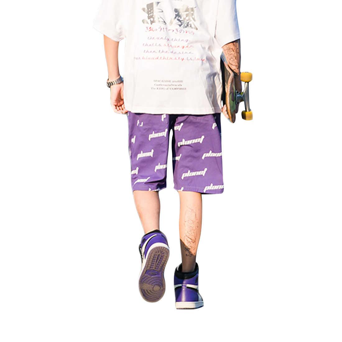 גברים של רחוב מזדמן אופנה מכנסיים קצרים, מטען קיץ קצר מכנסיים עבור בני נוער וצעירים בני, היפ הופ אופנתי הדפסת מכנסיים קצרים