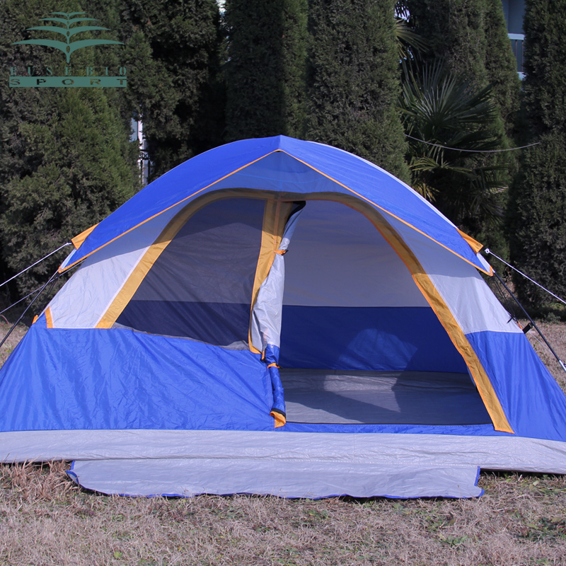 3-4Persons family outdoor camping tent have large active space and good viewing window waterproof anti big wind tent