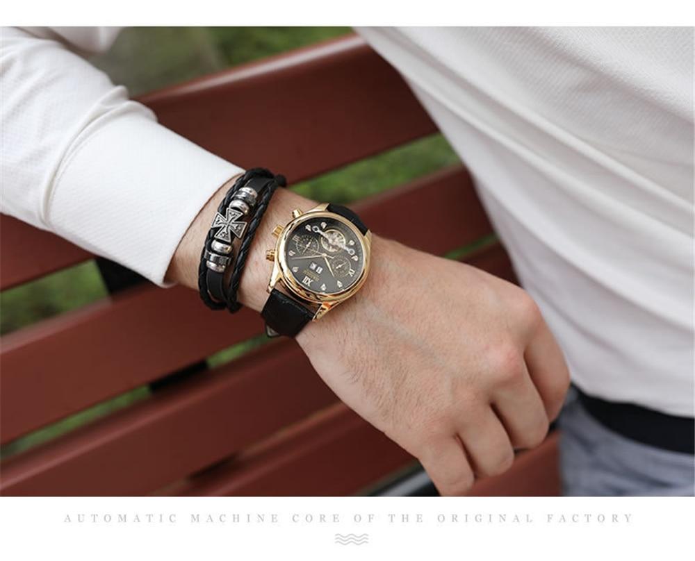 HTB1Q.RgXOfrK1RjSspbq6A4pFXan HAIQIN Men's watches Automatic mechanical Men Watches Business Watch men top brand luxury Military Waterproof Tourbillon Clock