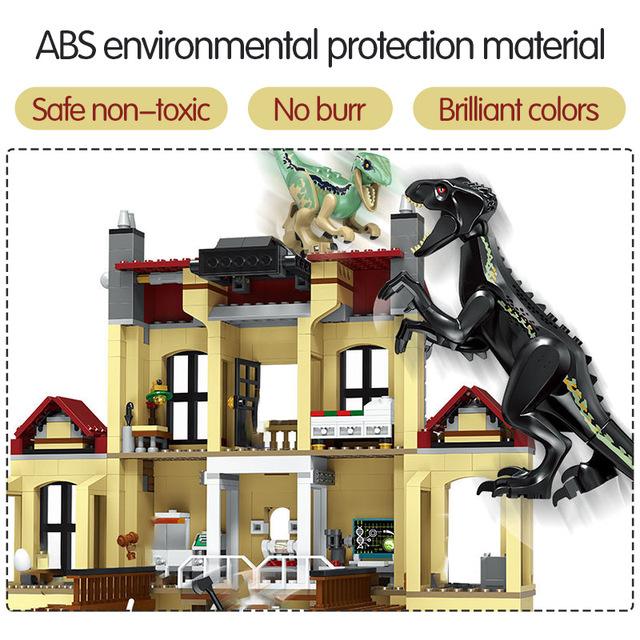 1046pcs Jurassic World Dinosaur Indoraptor Rampage At Lockwood Estate Compatible Building Block Toys For Boy