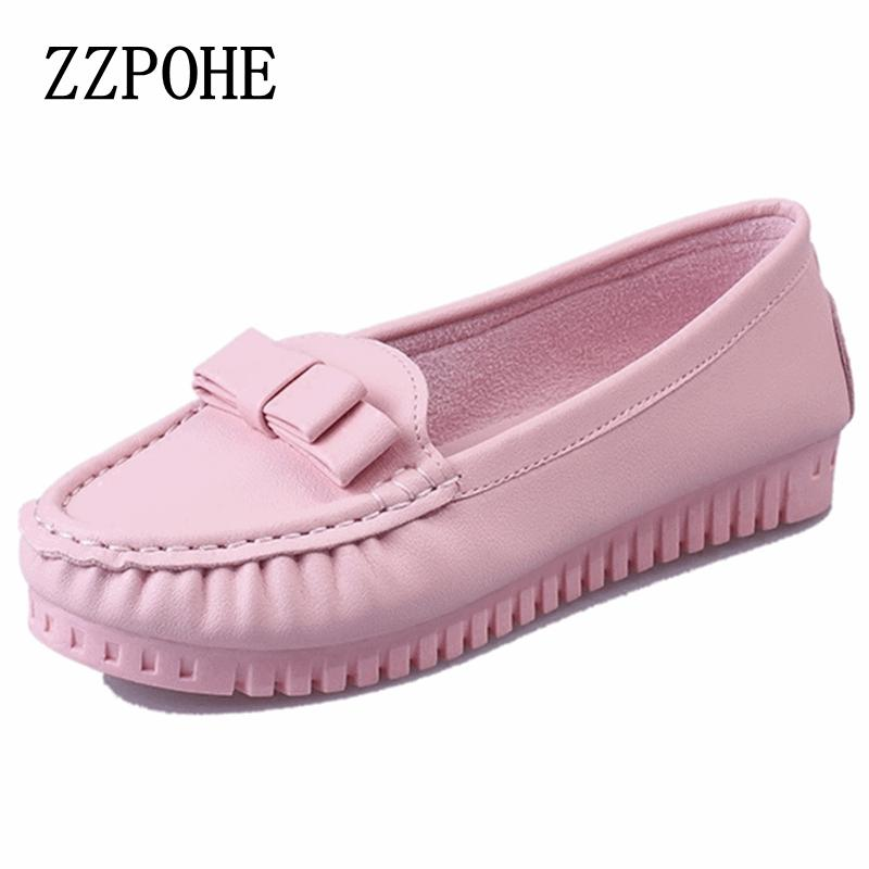 ZZPOHE spring and autumn new women's fashion flat shoes women shoes ladies casual slip soft bottom comfortable Driving shoes baijiami 2017 new children solid breathable slip on pu casual shoes boys and girls spring summer autumn flat bottom shoes