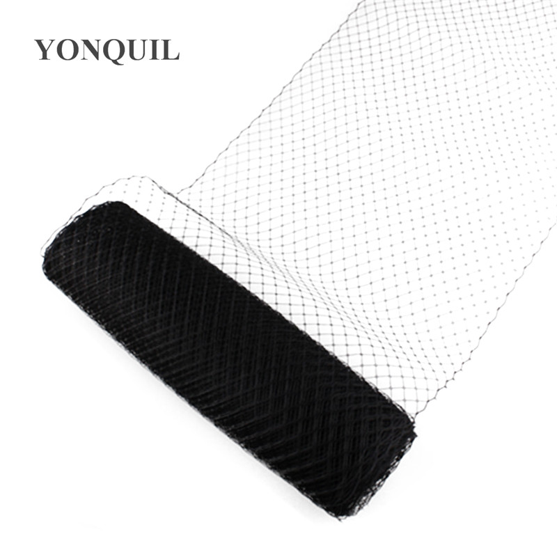 Black or multiple colors 25cm Birdcage Veiling Millinery Hat Veil wedding dress DIY Hair accessories fascinator veils 10yard/lot