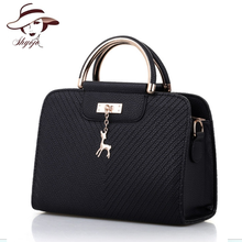 Hot Sale New Fashion Solid Color Women Messenger Shoulder Handbag Metal Top-handle Crossbody