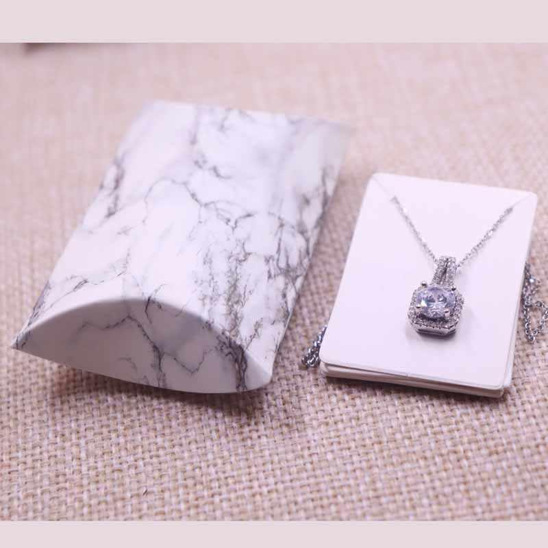 24 шт./1 лот оптовая продажа ювелирных изделий в форме подушки и ожерелья и коробка для показа сережек оригинальный дизайн цветочный узор Подарочная коробка 20X55X80 мм