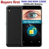 Оригинальный пойдем K1 Android 6,0 5,2 4G LTE смартфон 4G B Оперативная память 6 4G B/128 ГБ Встроенная память MTK6757 Восьмиядерный Iris Признание 16MP мобильного