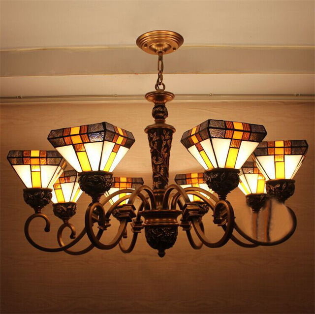 European Style Antique Classical Stained Glass Chandeliers Light Artistic  Tiffany Bars Lamp Living Room Tiffany Hanging - Popular Tiffany Hanging Lamps Antique-Buy Cheap Tiffany Hanging