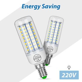цена на E27 Corn LED Bulb SMD 5730 GU10 LED 220V Candle Light Bulb 110V Lampadine Led E14 Home Lamp 24 36 48 56 69leds For Chandeliers