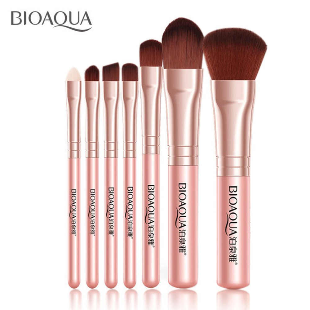 BIOAQUA Beauty 7PCS Pro Women Facial Makeup Brushes Set Face Cosmetic Eye Shadow Foundation Blush Brush Make Up Brush Tool