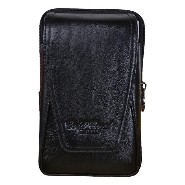 Pacote de Cintura de Couro Genuíno dos homens Designer de Alta Qualidade Sacos de Cintura Saco Fanny Cinto Bolsa de Viagem Do Vintage Da Moda Masculina