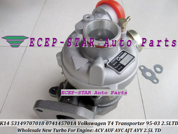 K14 53149707018 53149887018 074145701A 7018 Turbo Turbocharger For Volkswagen VW T4 Transporter 1995-03 ACV AUF AYC AJT AYY 2.5L