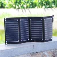 20W 2 Port USB Solar Charger with High efficiency Portable Foldable Solar Panel PowermaxIQ Technology for iPhone, iPad, iPod.etc