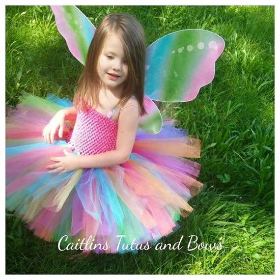 Comprar ahora Flor colorida Niñas tutú Vestidos princesa Arco Iris ...