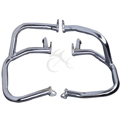 Left Right Iron Engine Case Guards Bars For Honda Goldwing GL1800 2001 2011