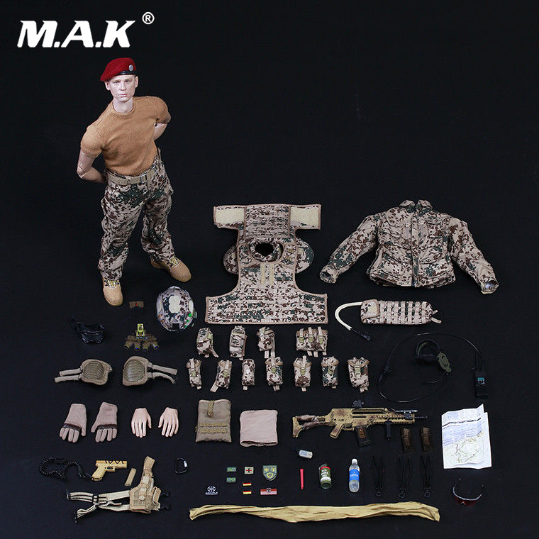 For Collection 1/6 Scale Germany KSK Special Action Team in Afghanistan Assault Figure 73009 full set soldier doll toys