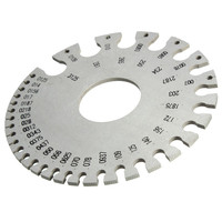 Stainless Steel Round Wire Thickness Measuring Gauge Diameter Gage Tools With Bag Popular Cost Effective