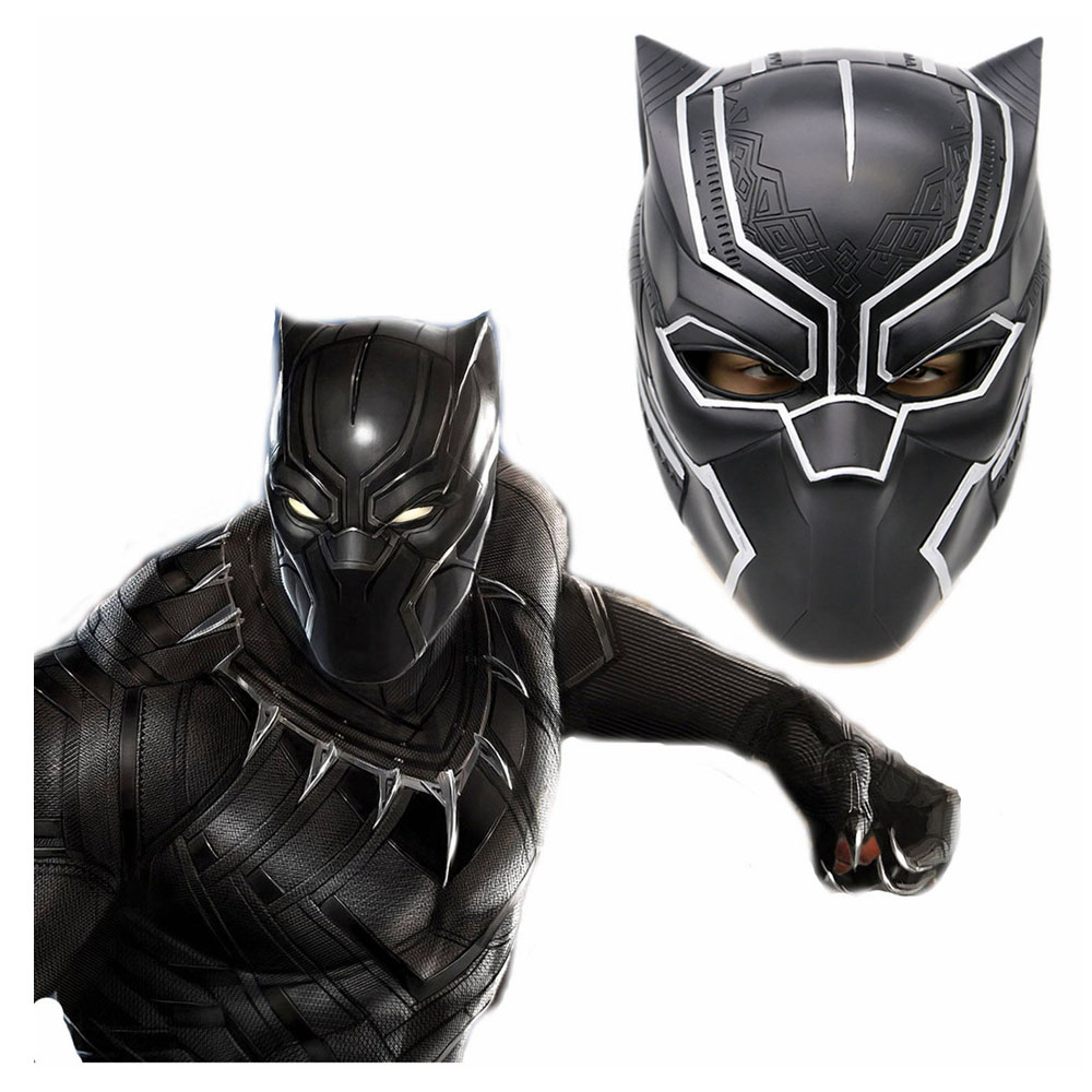 Captain America Black Panther Cool Full Head Helmet Resin PVC Cosplay Mask Costume Accessories Halloween Festival Party Masks