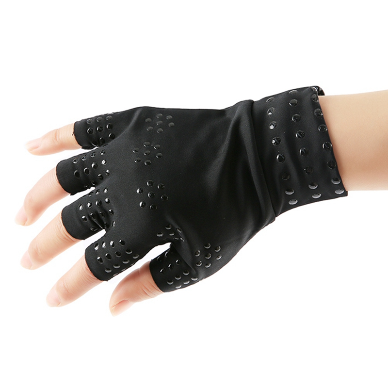 1 Pair Magnetic Therapy Fingerless Gloves Arthritis Pain Relief Heal Joints Braces Supports Health Care Tool Foot Care Tool