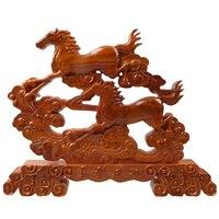 Смысл Лошадь зодиака Дракон украшения резьба по дереву украшения домашнего интерьера подарочная коробка