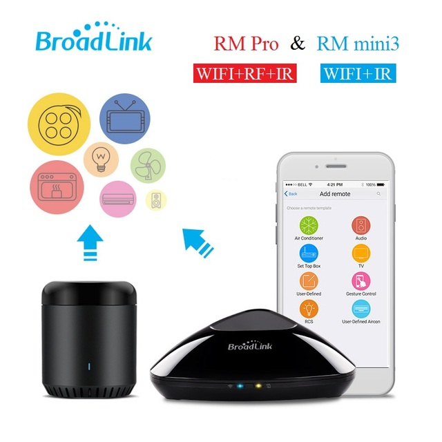 Broadlink RM2 RM Pro RM Mini3,Smart home Automation,Universal Intelligent remote controller,WIFI