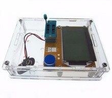 LCR T4 Mega328 M328 Transistor Tester Diode Triode Capacitância ESR Medidor MOS PNP Lcd Diodos Transistores Com Caixa de Caso