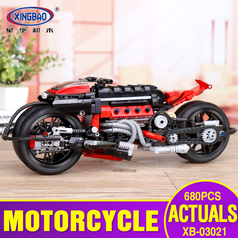 X Model Compatible with Lego X03021 680Pcs Motorcycle Models Building Kits Blocks Toys Hobby Hobbies For Boys GirlsX Model Compatible with Lego X03021 680Pcs Motorcycle Models Building Kits Blocks Toys Hobby Hobbies For Boys Girls