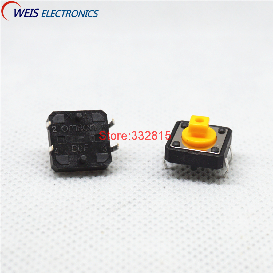 10 pcs Omron micro-touch switch B3F-4055 button 12*12*7.3mm