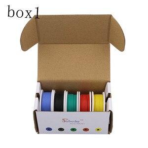 Image 5 - 30 m 22awg 유연한 실리콘 와이어 케이블 5 색 믹스 박스 1 상자 2 패키지 전기 와이어 라인 구리 diy