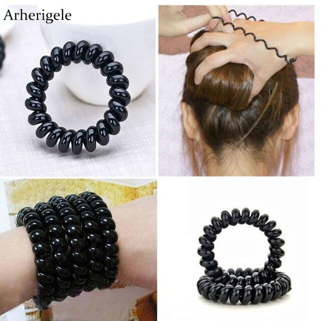 195dbf50bc1 Arherigele 5pcs  lot 3 Types Telephone Line Elastic Hair Bands Headbands  for Women Hair Accessories