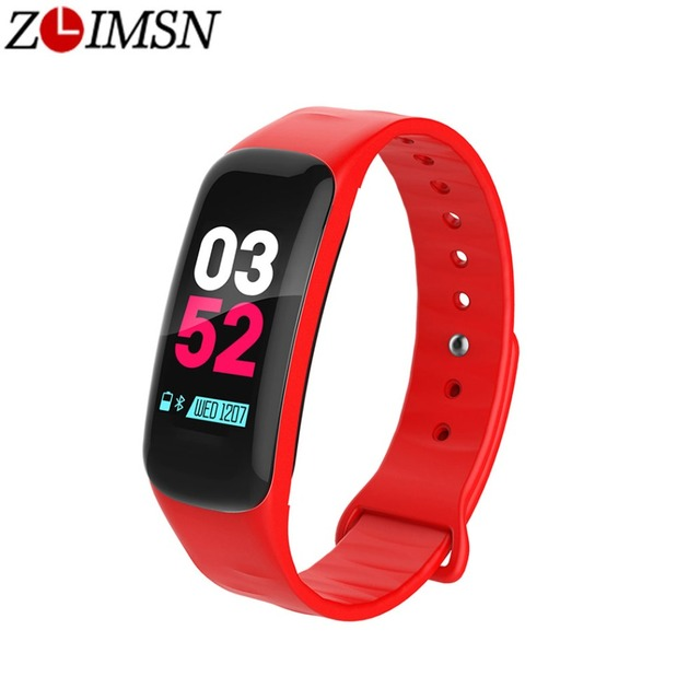 969eb8284f81 US $17.6 49% OFF|ZLIMSN Smart Watch Sports Fitness Activity Heart Rate  Tracker Blood Pressure Wristband IP67 Waterproof Pedometer For IOS  Android-in ...