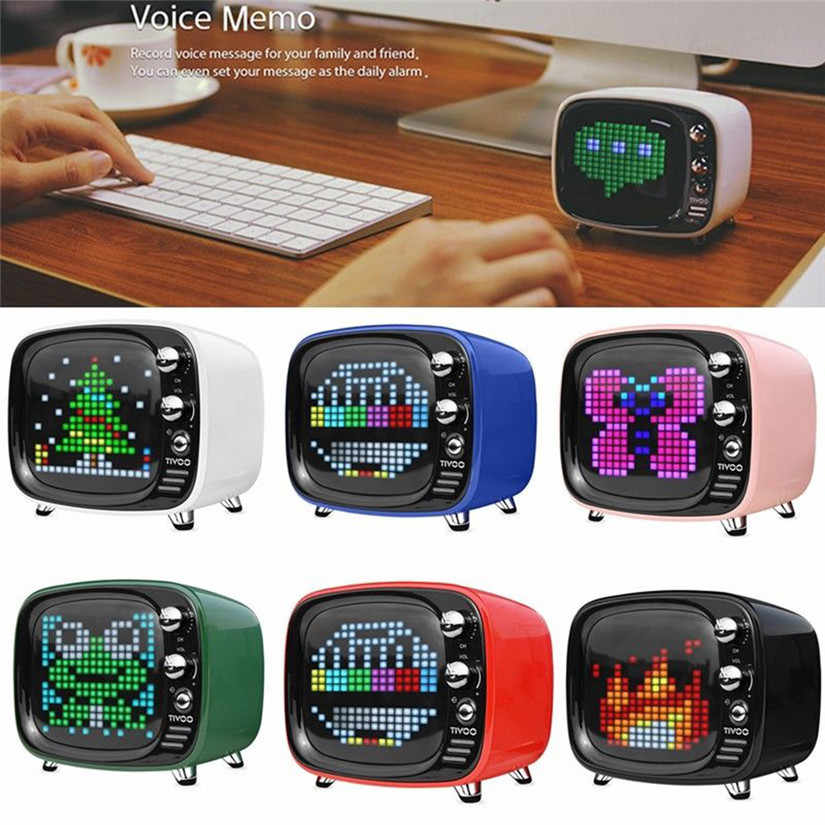 HIPERDEAL Divoom Tivoo Portable Wireless Bluetooth speaker Pixel Art LED  Smart Alarm Clock with App available for IOS Android #F