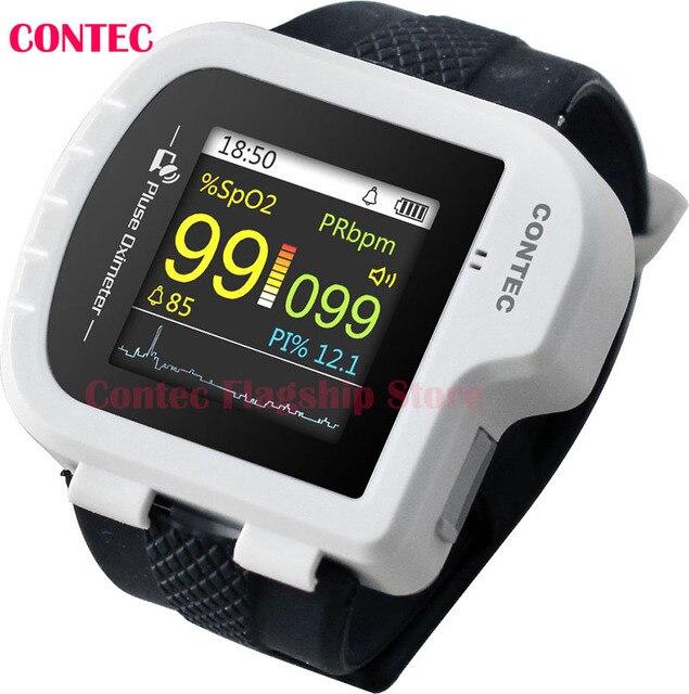 Bluetooth Pulse Oximeter,Wrist,Sound,PI,Pulse oxygen saturatio CMS50IW + SW CONTEC Wrist Spo2 Monitor/Wearable Pulse Oximeter/