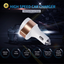 Dual USB Car-Charger Fast Charging Four In One Car Quick Charger, Type-C Charge Chargers ,Use for  all mobile phones