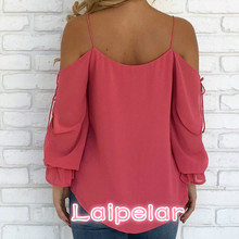 Blouses Women Fashion New V-neck Hollow Out Long Sleeve Chiffon Summer Top 2018 Womens Tops And Clothing Laipelar