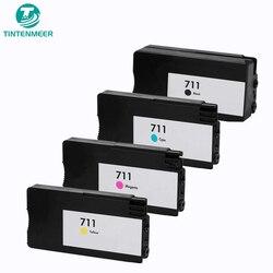 TINTENMEER premuim wymienny wkład tusz kompatybilny 711 711xl CZ133A CZ130Z CZ131A CZ132A dla hp designjet T120 T520 w Tusze do drukarek od Komputer i biuro na