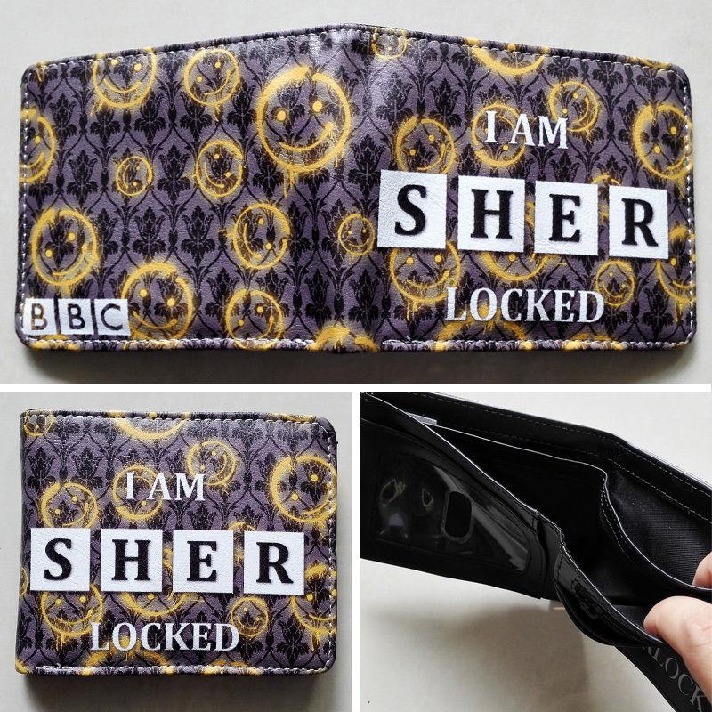 42e19c3caa606 2018 BBC Sherlock logo 02 carteras monedero multicolor 12 cm cuero Hombre  mujeres nueva W116