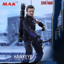 1/6 Full set Action Figure Doll Collectible MMS358 Captain America: Civil War 1/6th Hawkeye Collectible Figure Toys Gift