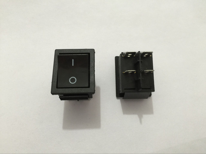 5pcs DPST Black Indicator Light ON/OFF 4 Pin Rocker Switch 20A 250V ...