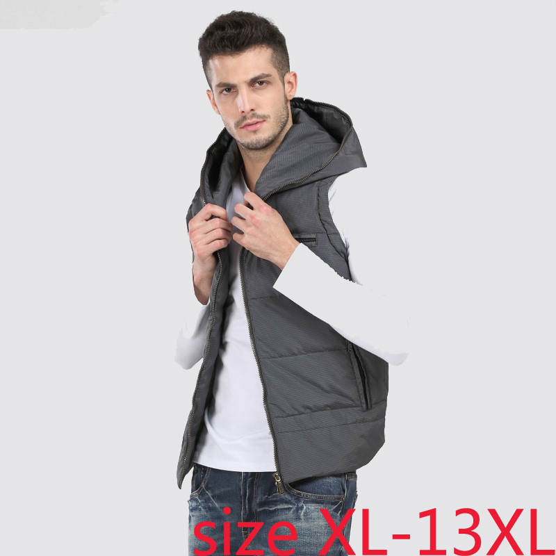 Devoted New Arrival Fashion With A Hood Down Vest Men's Obese Male Fashion Plus Sizexl-4xl 5xl 6xl 7xl 8xl 9xl 10xl 11xl 12xl 13xl