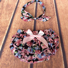 Cotton Floral Bloomers Bubble Shorts Toddler Diaper Cover