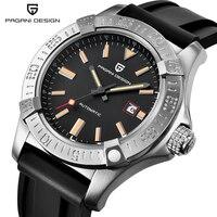 PAGANI DESIGN Automatic Mechanical Watch Men Business Silicone Rubber Strap Wist Watch Male Clock Relogio Masculino Male Clock