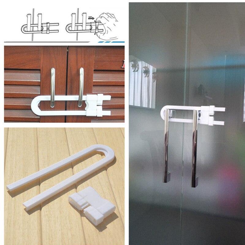 MOTOHOOD 1pc Children Protection Lock U Shape Baby Safety Lock Drawer Door Cabinet Cupboard Children Safety Lock
