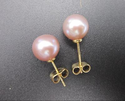 2018 new hot charming pair of 10mm real round south sea pink pearl earring цена