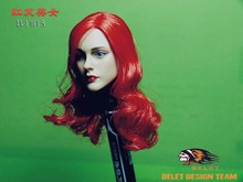 BELET Toys 1/6 Sexy Female Red Long Curls Hair Head Sculpts Model Toys For 12″ PHICEN Action Figure Body Model