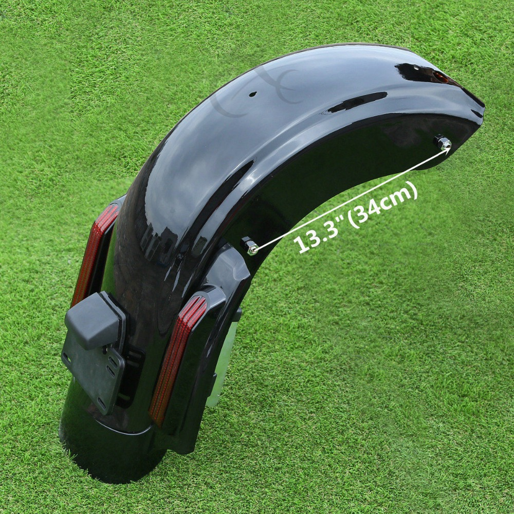 Covers & Ornamental Mouldings Motorcycle Cvo Style Rear Fender System For Harley Ultra Classic Electra Glide Road King Street Glide 2009-2013 Smoke Red