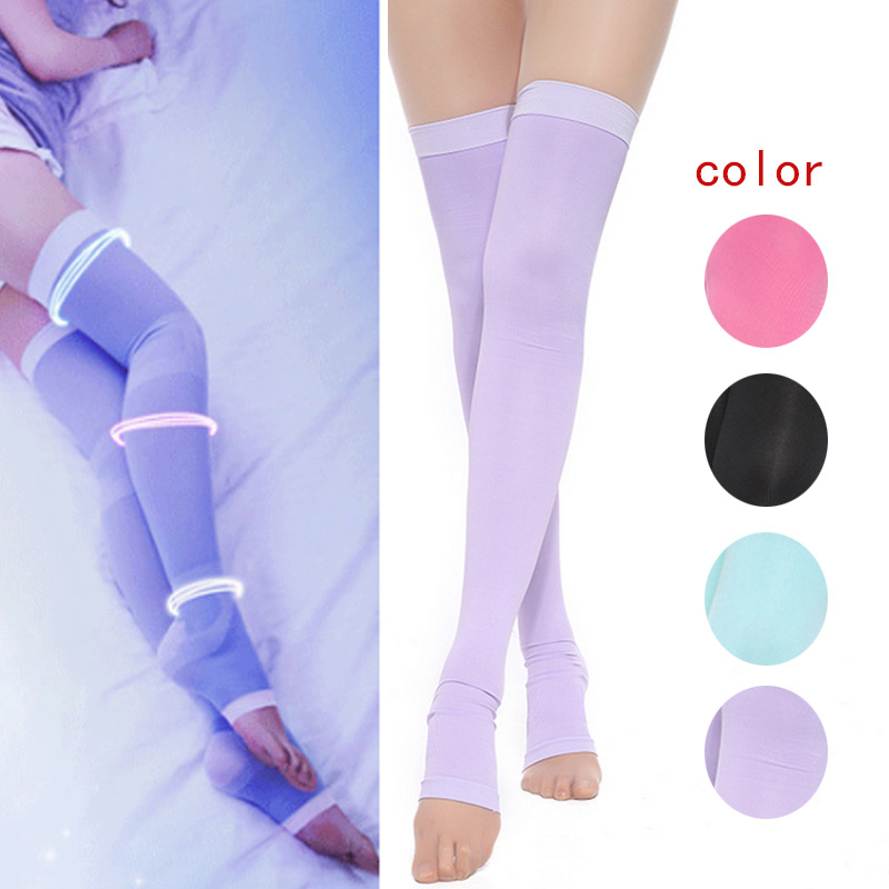 Women Thin font b Slimming b font Leg Calves Shaper Varicose Veins Elastic Legs Socks Stovepipe