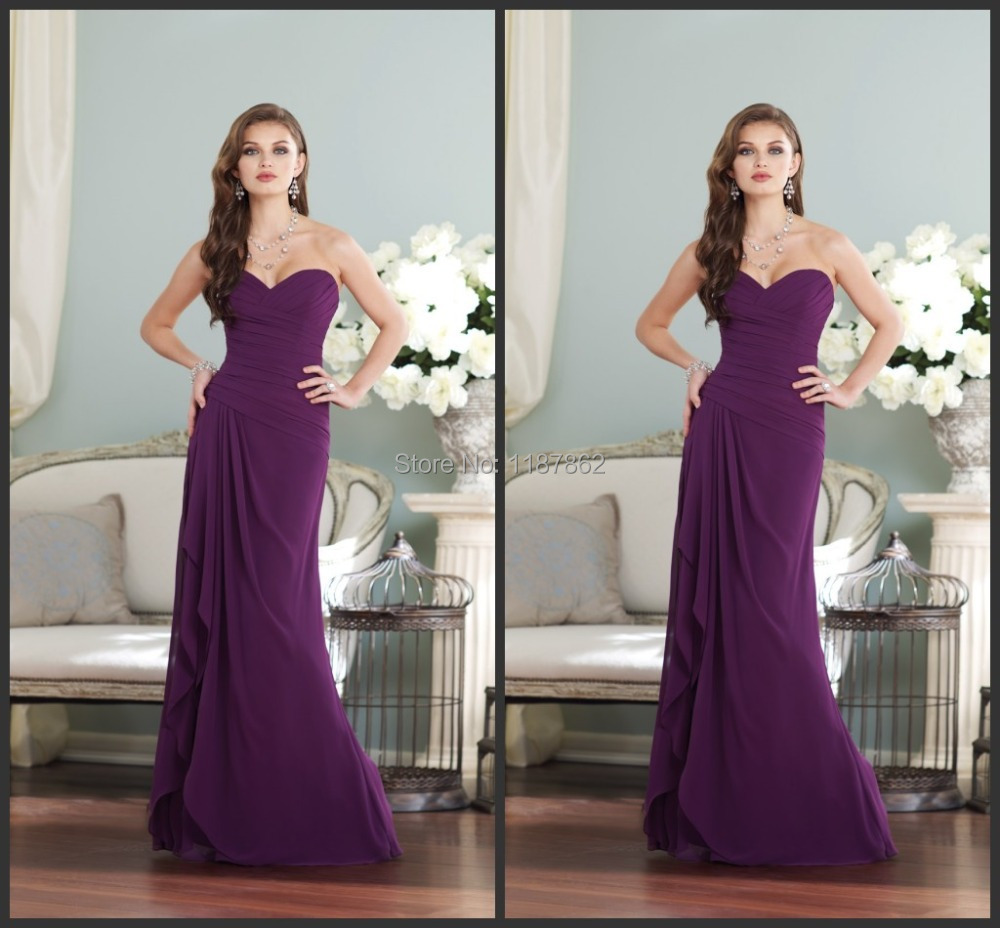 Bd 0048 Free Shipping Bridesmaid Dress For Wedding Prom Dresses 2017 New Gown Simple Purple In From Weddings Events