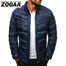 ZOGAA Winter Parkas Jackets Men 2019 Casual Mens and Coats Solid Parka Outwear Plus Size 3XL Jacket Male Clothing