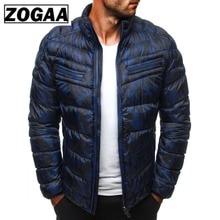цена на ZOGAA Winter Parkas Jackets Men 2019 Casual Mens Jackets and Coats Solid Parka Men Outwear Plus Size 3XL Jacket Male Clothing