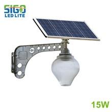 Солнечный садовый светильник 15 Вт наружный светильник энергосберегающие солнечные лампы