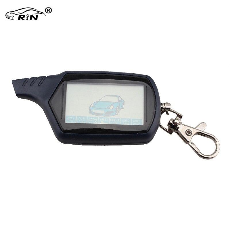 RIN Russian Version Starlione B9 Starline LCD Remote Controller For Two Way Car Alarm Starline B9 Keychain Russian Version &Logo